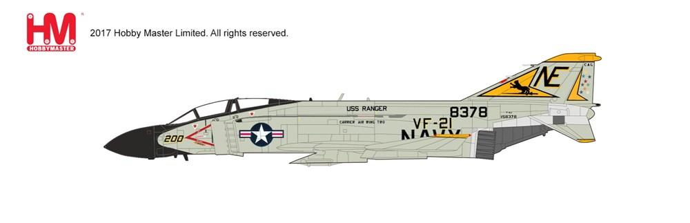 """ホビーマスター1/72 F-4J ファントム2 """"VF-21 フリーランサーズ"""" 完成品 艦船・飛行機 HA1996"""