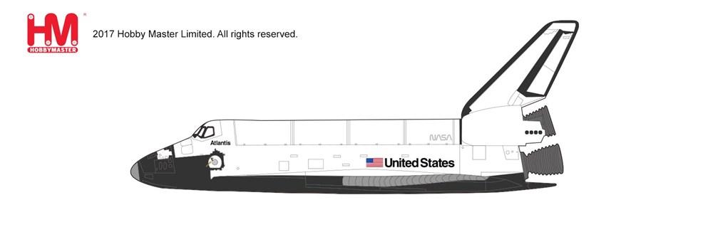 """ホビーマスター1/200 スペースシャトル・オービタ """"アトランティス"""" 完成品 艦船・飛行機 HL1401"""