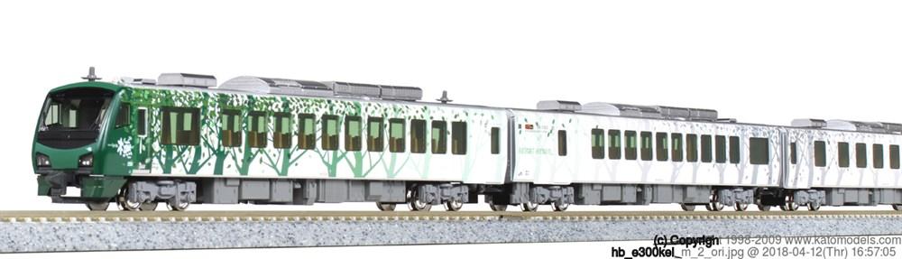 KATONゲージ HB-E300系 「リゾートしらかみ」(ブナ編成)4両セット 鉄道模型 10-1463