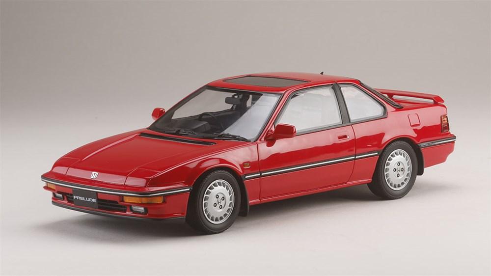 ホビージャパン181/18 ホンダ プレリュード Si (BA5) 1987 フェニックスレッド 完成品ミニカー HJ1804BR
