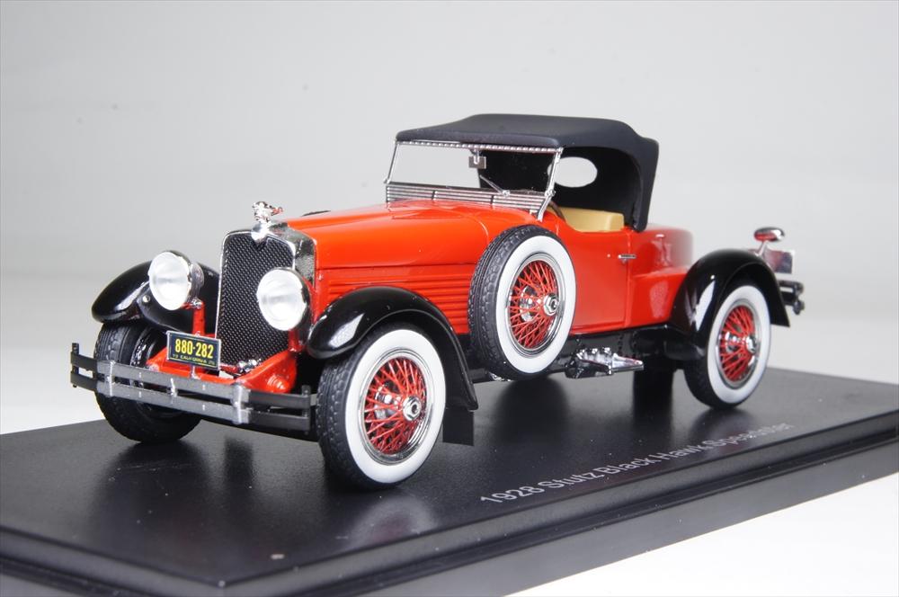エスバルモデル1/43 スタッツ ブラックホーク ロードスター トップダウン 1928 完成品ミニカー EMUS43005B