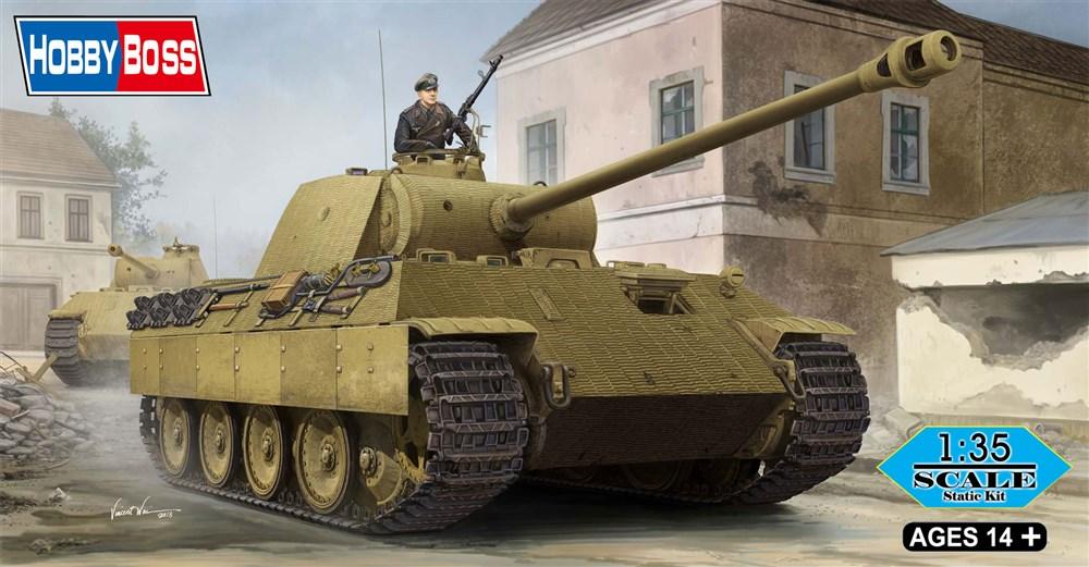 ホビーボス1/35 ドイツ中戦車パンサーA型 スケールプラモデル 84506