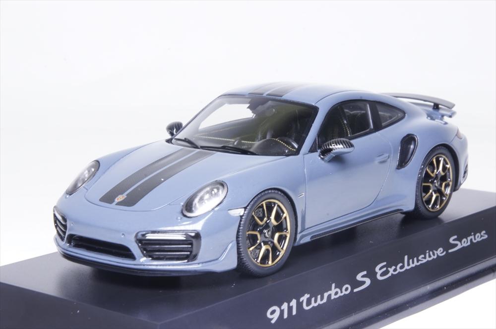 ディーラー別注1/43 ポルシェ 911 ターボS エクスクルーシブ ブルーメタリック 完成品ミニカー WAP0209070J