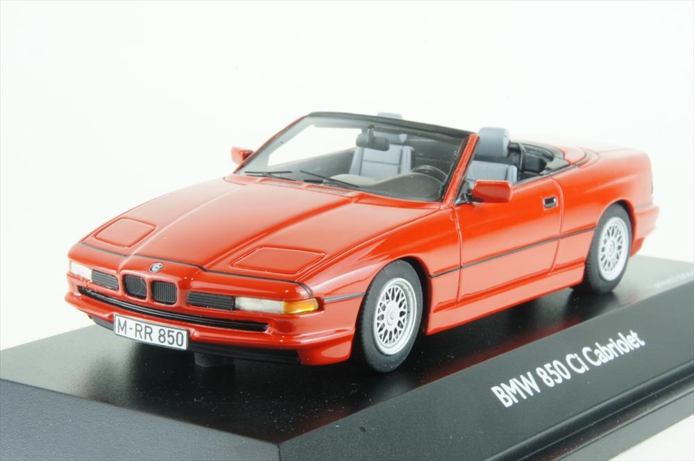 シュコー1/43 BMW 850 Ci コンバーチブル レッド 完成品ミニカー 450902400