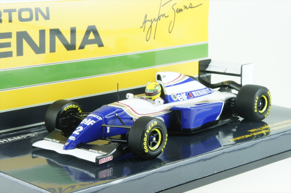 ミニチャンプス1/43 ウィリアムズ ルノー FW16 1994 F1 ブラジルGP A.セナ 完成品ミニカー 547940102