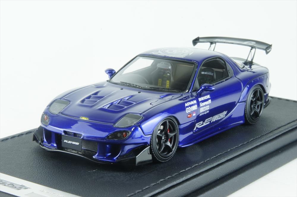 イグニッションモデル1/43 マツダ RX-7 (FD3S) RE 雨宮ブルー 完成品ミニカー IG1342