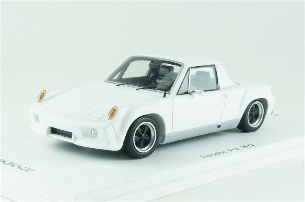 キッドボックス/Spark1/43 ポルシェ 916 1972 ホワイト 完成品ミニカー SKB43022