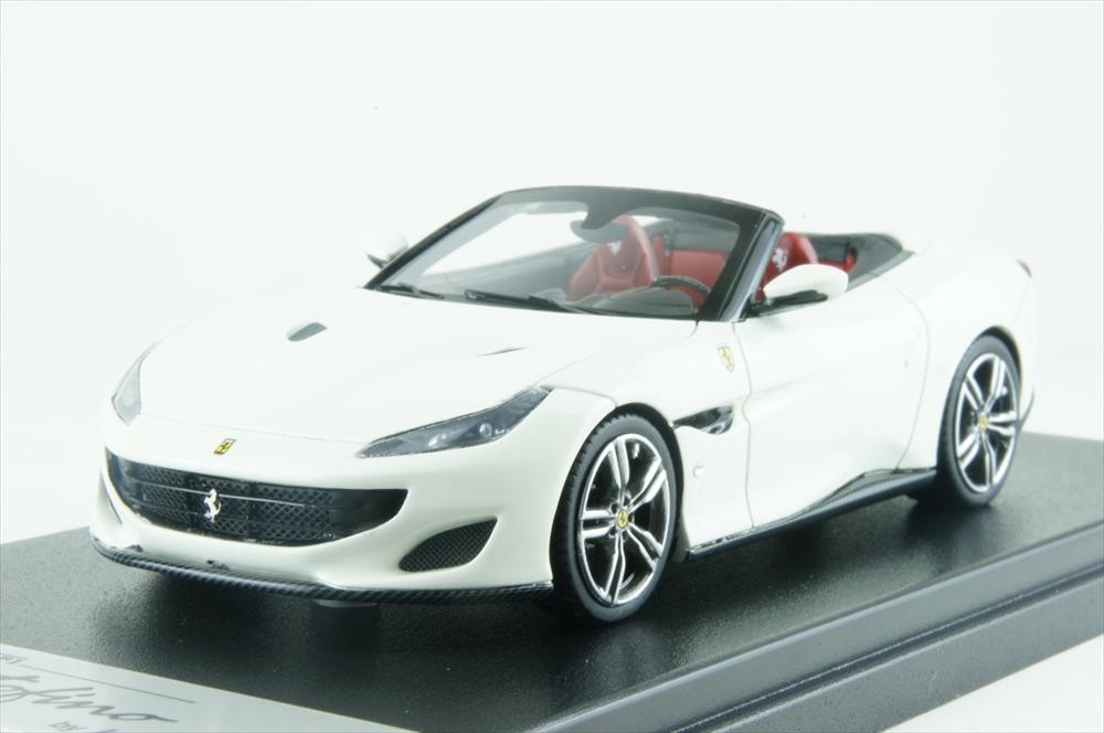 ルックスマート1/43 フェラーリ ポルトフィーノ オープンルーフ ホワイト/ブラック 完成品ミニカー LS480SC