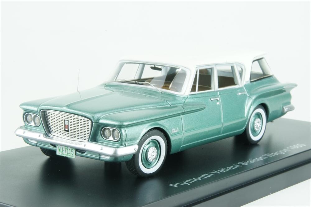 ネオ1/43 プリムス ヴァリアント ワゴン 1960 グリーン/ホワイト 完成品ミニカー NEO47115