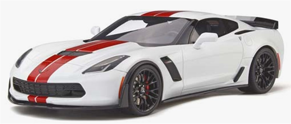 GTスピリット1/18 シボレー コルベット Z06 (C7) ホワイト/レッド 完成品ミニカー GTS214