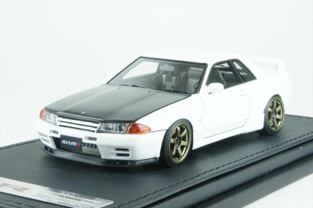 イグニッションモデル1/43 ニスモ R32 GT-R S-tune ホワイト 完成品ミニカー IG0922
