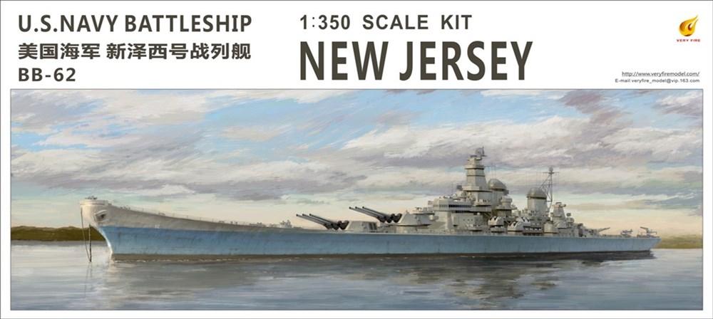 【20%OFF】ベリーファイア1/350 米海軍 戦艦 ニュージャージー (BB-62) スケールプラモデル VFM350911
