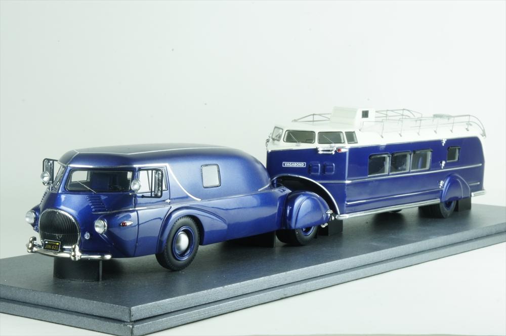 オートカルト1/43 レオ トラック / カーチス エアロカー 1938 ブルーメタリック 完成品ミニカー 11009