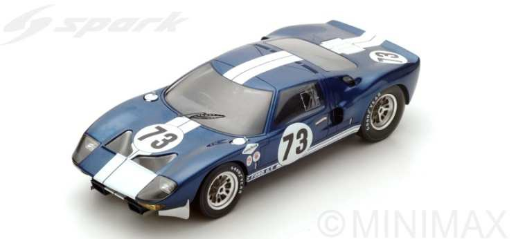 【予約】 スパーク1/18 フォードGT No.73 1965 デイトナ2000km K.マイルス/L.ルビー 完成品ミニカー 18DA65