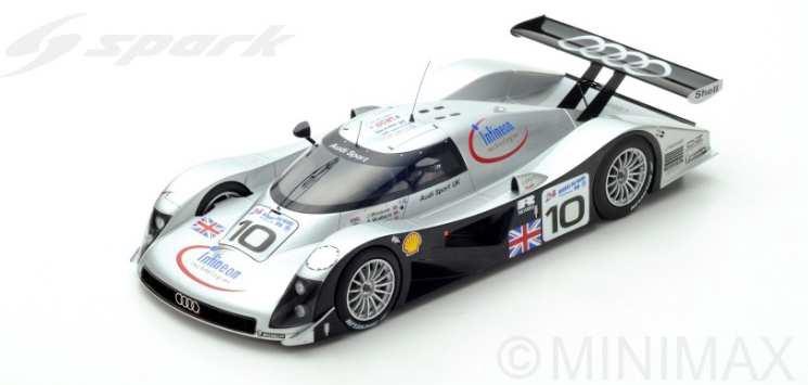 【予約】 スパーク1/18 アウディ R8C No.10 アウディ・スポーツ・UK 1999 ル・マン24時間 A.ウォレス/J.ウェバー/Pマッカーシー 完成品ミニカー 18S340