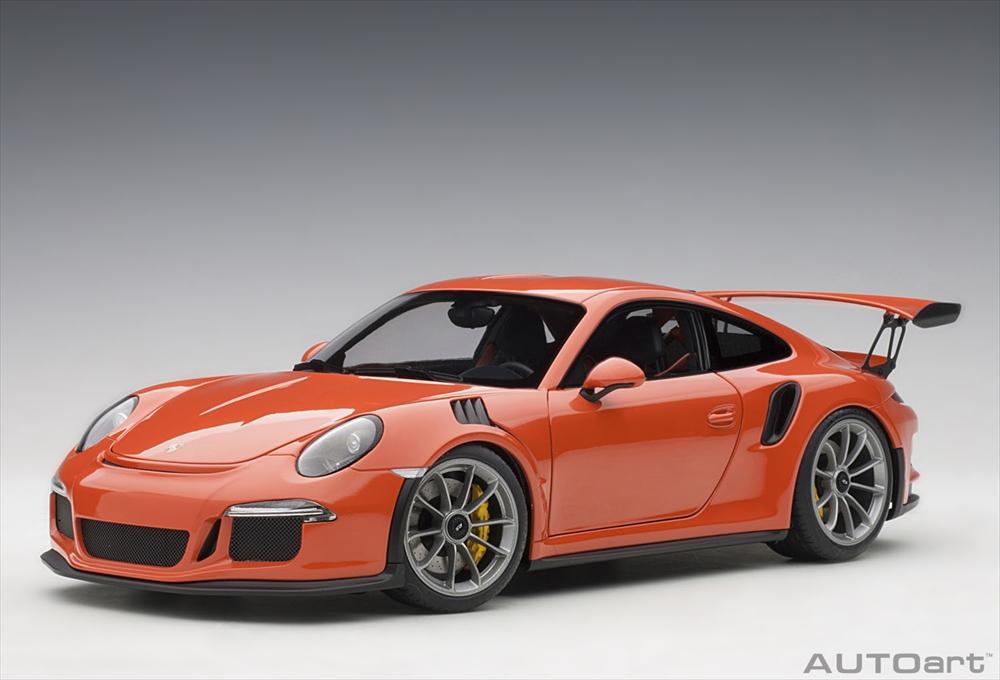 オートアート1/18 ポルシェ 911 (991) GT3 RS オレンジ 完成品ミニカー 78168