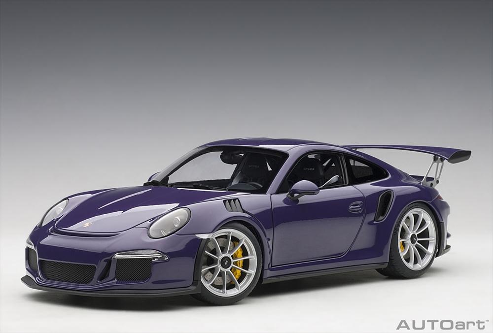 オートアート1/18 ポルシェ 911 (991) GT3 RS バイオレット 完成品ミニカー 78169