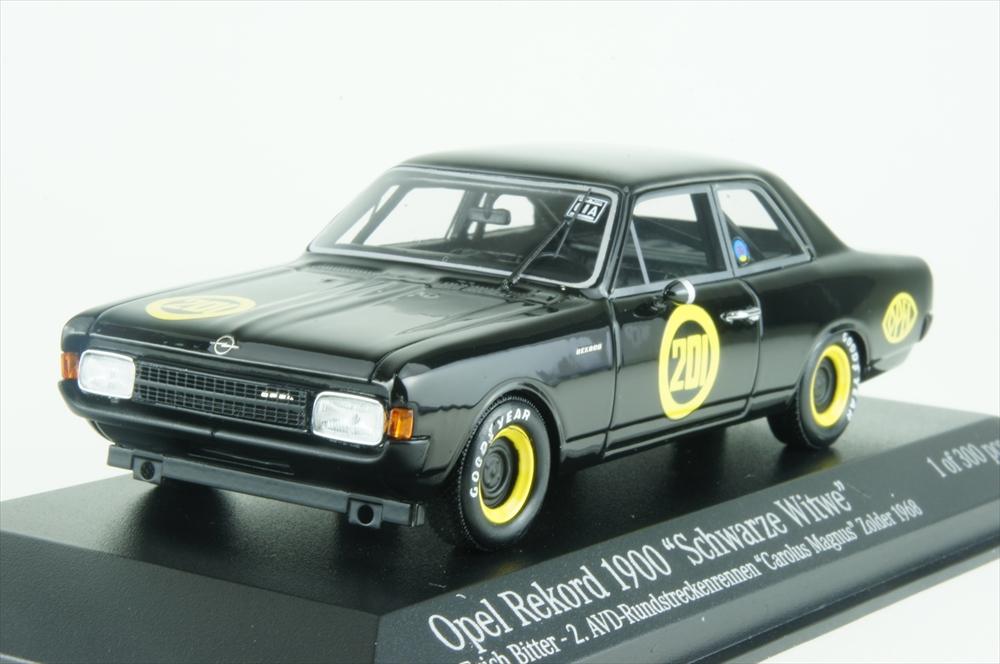 ミニチャンプス1/43 オペル レコルト 1900 SCHWARZE WITWE 1968 完成品ミニカー 437684601