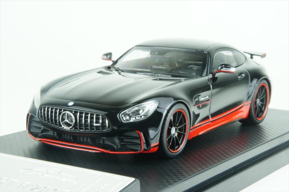 オールモストリアル1/43 メルセデス AMG GT-R ブラック/レッド 完成品ミニカー AL420709