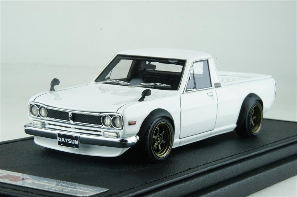 イグニッションモデル 1/43 ニッサン ハコトラ ロング ホワイト RAホイール 完成品ミニカー IG1507