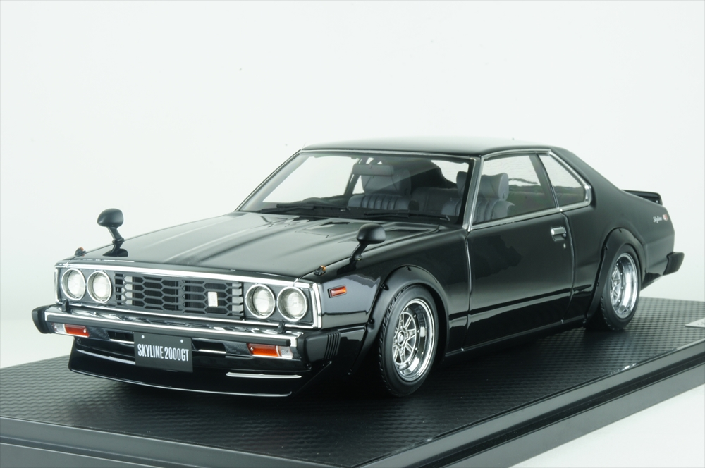 イグニッションモデル 1/18 ニッサン スカイライン 2000 GT-ES (C210) ブラック メタリック 完成品ミニカー IG1587
