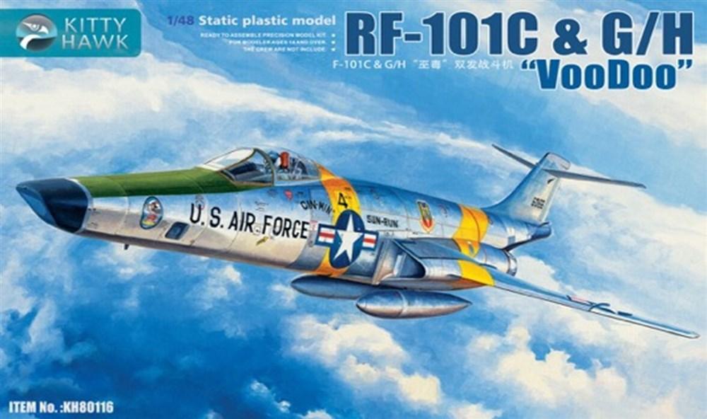 キティホークモデル 1/48 RF-101C&G/H ヴードゥー偵察機 スケールプラモデル KITKH80116