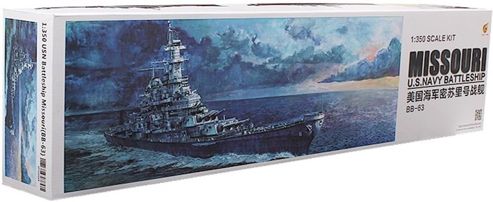 【予約】 ベリーファイア 1/350 米海軍 戦艦 ミズーリ (BB-63) 「イージーバージョン」 スケールプラモデル VFM350909