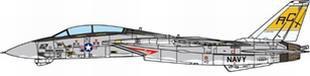 JCW 1/72 F-14B アメリカ海軍 VF-32 スウォーズメン USS ハリー・S・トルーマン 2005 完成品 艦船・飛行機 JCW-72-F14-004