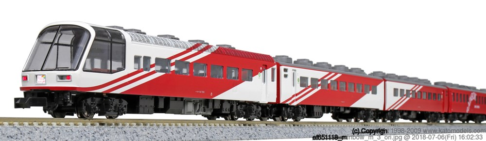 KATONゲージ 14系700番台 スーパーエクスプレスレインボー 7両セット 鉄道模型 10-1490