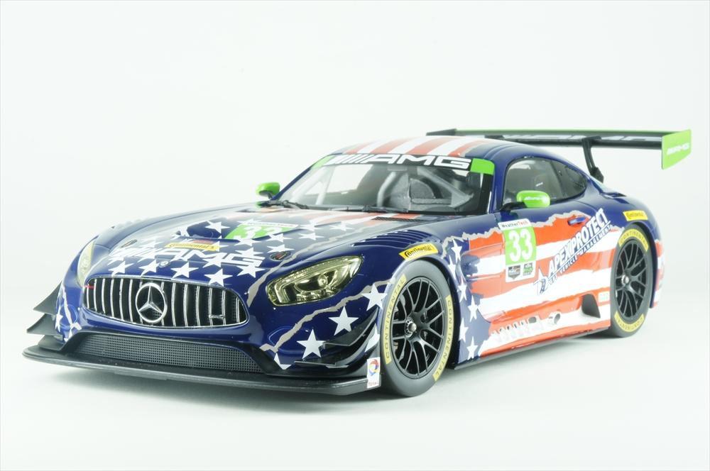 ディーラー別注 1/18 メルセデスベンツ AMG GT3 No.33 2017 IMSA ワトキンズ・グレン6時間 B.キーティング 完成品ミニカー B66960455
