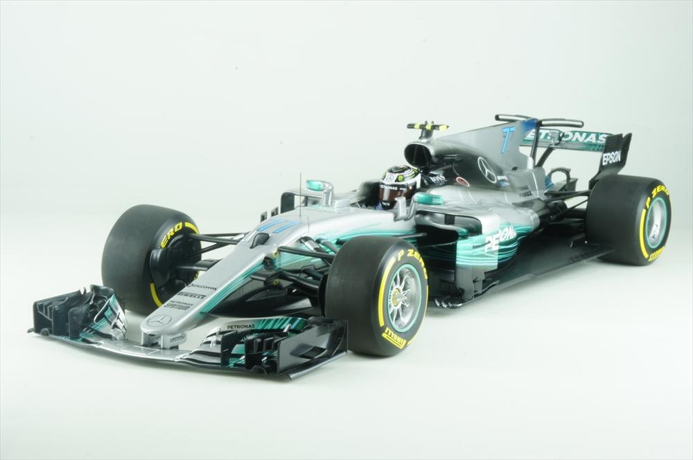 ディーラー別注 1/18 メルセデス F1 W08 EQ Power No.77 2017 V.ボッタス 完成品ミニカー B66960550