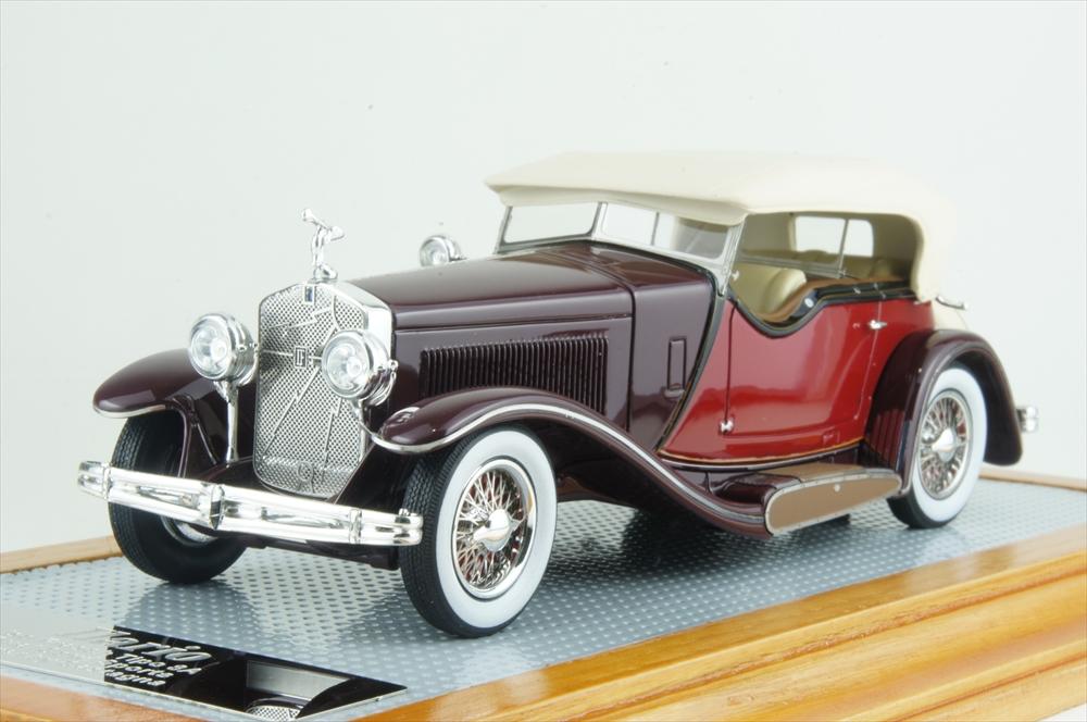イラリオ 1/43 イソッタ フラスキーニ ティーポ 8A 1933 カスターニャ デュアルカウルスポーツ ツアラー 現行車 完成品ミニカー IL43122