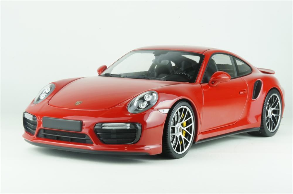 ミニチャンプス 1/18 ポルシェ 911 ターボ S 2016 レッド 完成品ミニカー 110067122