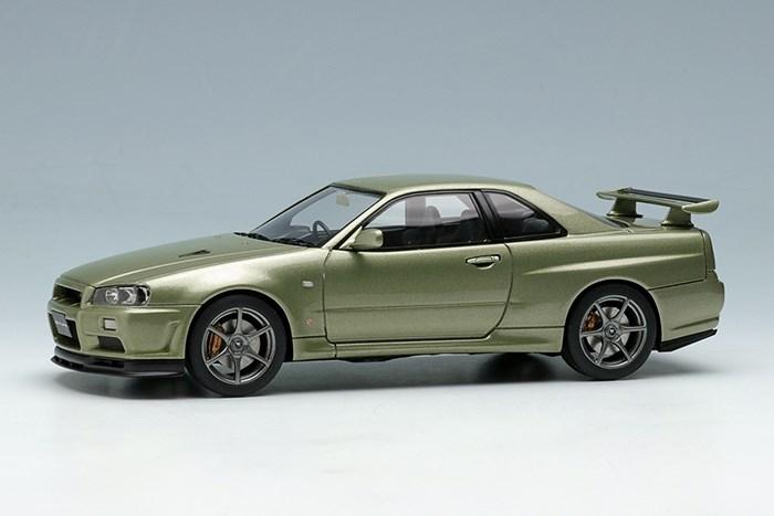 【予約】 アイドロン 1/43 ニッサン スカイライン GT-R (BNR34) Vスペック II Nur 2002 ミレニアムジェイド 完成品ミニカー EM372A