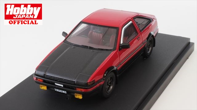 1/43 MARK43 (PM4333CRK) トヨタ スプリンタートレノ (AE86) GT APEX (スポーツホイール) レッド (カーボンボンネット) 送料無料