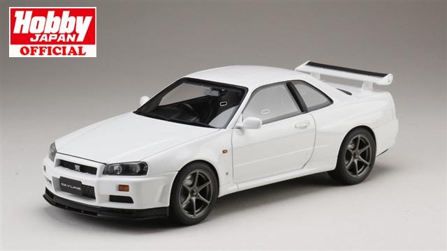 ホビージャパン 1/18 ニッサン スカイライン GT-R V・スペック 1999 (BNR34) ホワイト 完成品ミニカー HJ1809W 送料無料
