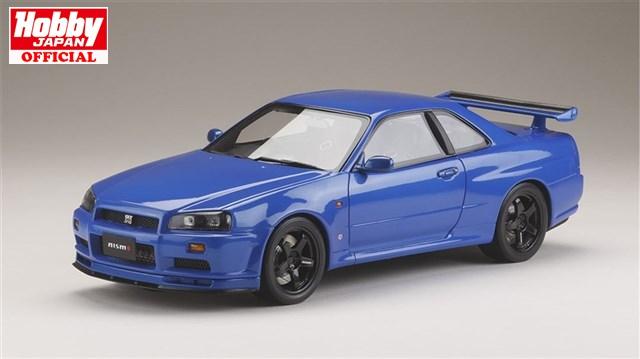 ホビージャパン1/18 ニッサンスカイライン GT-R V・spec 1999 (BNR34) Nismo カスタムバージョン ベイサイドブルー (M) 完成品HJ1809NBL 送料無料