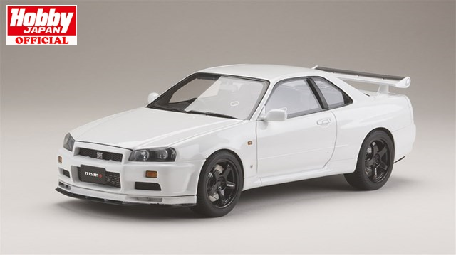 ホビージャパン1/18 ニッサンスカイライン GT-R V・spec 1999 (BNR34) Nismo カスタムバージョン ホワイト 完成品HJ1809NW 送料無料