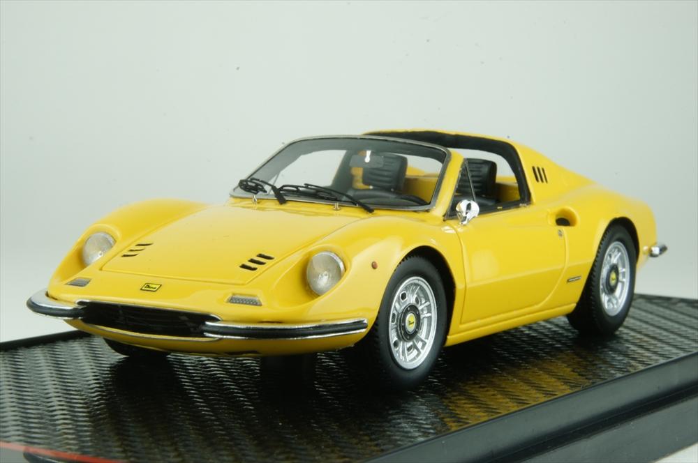 BBR 1/43 フェラーリ ディーノ 246 GTS イエロー 台座無 完成品ミニカー BBRC54B