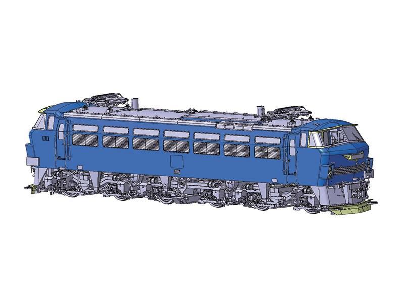 アオシマ 1/45 電気機関車 EF66 後期型 スケールプラモデル トレインミュージアムOJ No.4