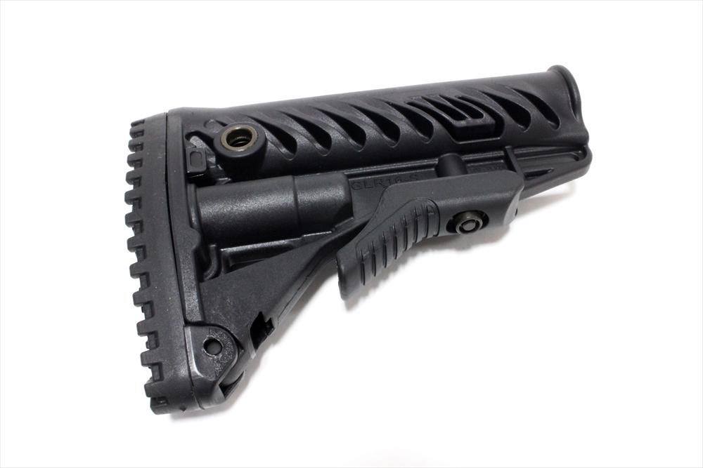FABディフェンス ARストックチューブ対応 伸縮ストック GLR16 ブラック トイガンパーツ FD0105BK