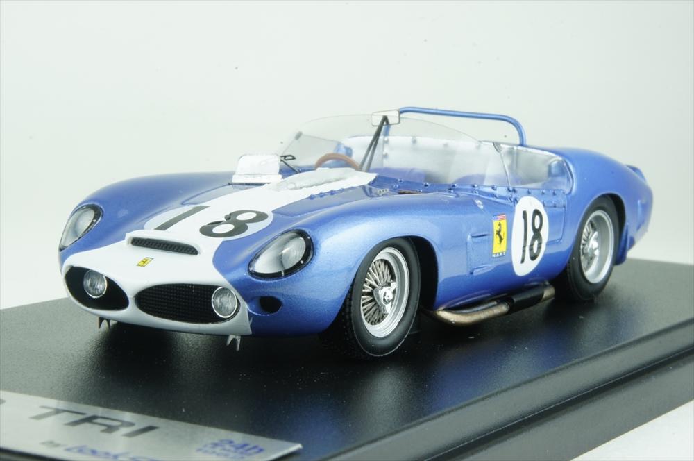 ルックスマート 1/43 フェラーリ TRI/61 No.18 NART 1962 ル・マン24時間 P.ライアン/J.フルプ 完成品ミニカー LSLM045