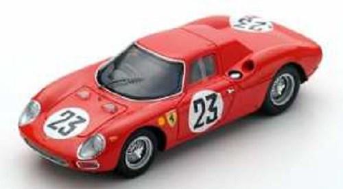 ルックスマート 1/43 フェラーリ 250LM No.23 1964 ル・マン24時間 G.L.van Ophem/P.デュメイ 完成品ミニカー LSLM077