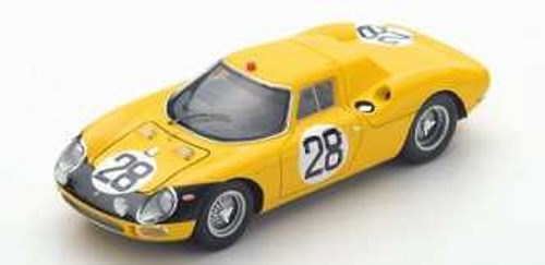 ルックスマート 1/43 フェラーリ 250LM No.28 1966 ル・マン24時間 G.ゴセリン/E.ケイン 完成品ミニカー LSLM080