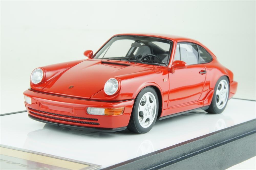 ヴィジョン 1/43 ポルシェ 911(964) カレラ RS 1992 ガーズレッド 完成品ミニカー VM122F