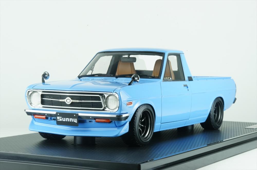 イグニッションモデル1/18 ニッサン サニー トラック ロング (B121) ライトブルー 完成品ミニカー IG1432