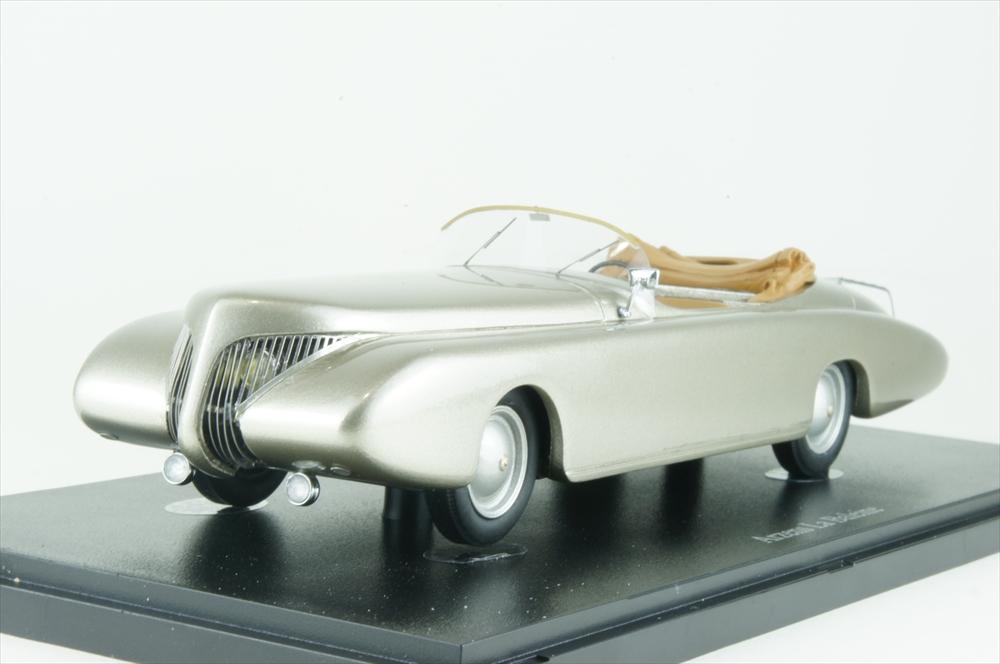 オートカルト 1/43 Arzens La Baleine 1938 メタリックシルバー 完成品ミニカー 04017