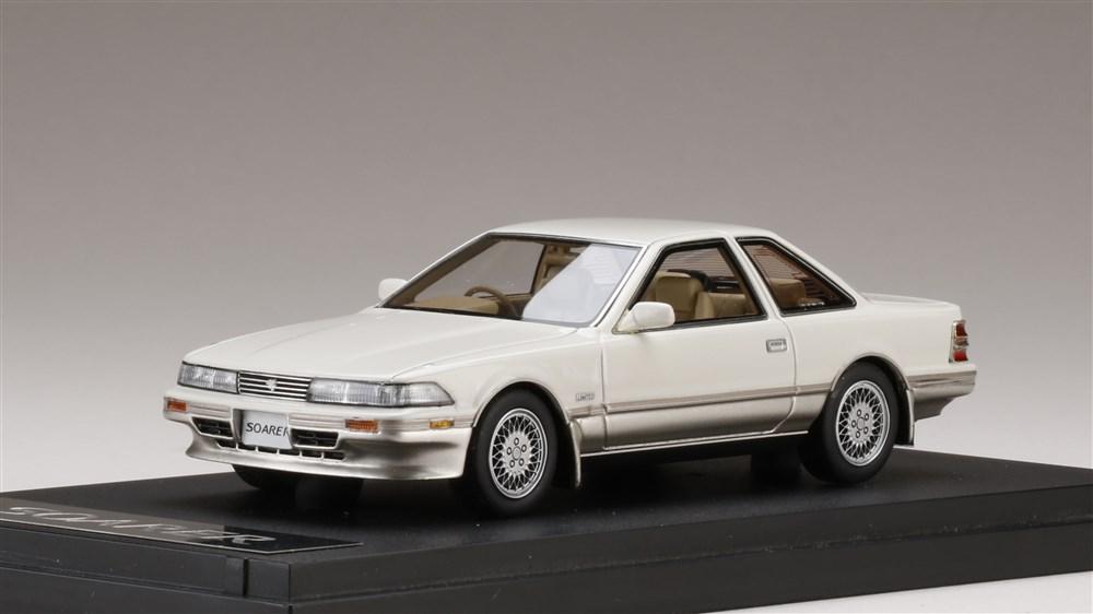 【予約】 MARK43 1/43 トヨタ ソアラ 3.0GT-LIMITED エアーサスペンション (MZ21) 1988 クリスタルホワイトトーニングII 完成品ミニカー PM43107BAT