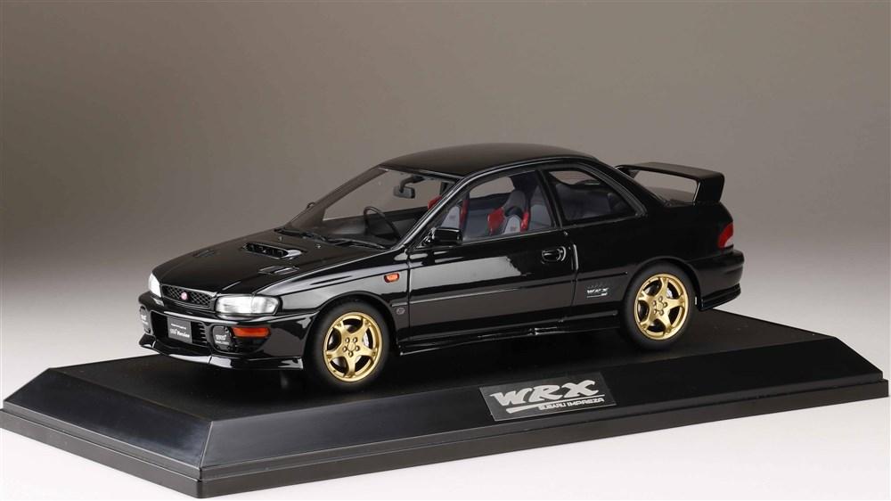 ホビージャパン 1/18 スバル インプレッサ WRX タイプR STiバージョン IV GC8 1997 ブラックマイカ 完成品ミニカー HJ1812EBK