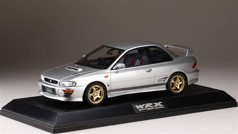 ホビージャパン 1/18 スバル インプレッサ WRX タイプR STiバージョン IV GC8 1997 ライトシルバーメタリック 完成品ミニカー HJ1812ES